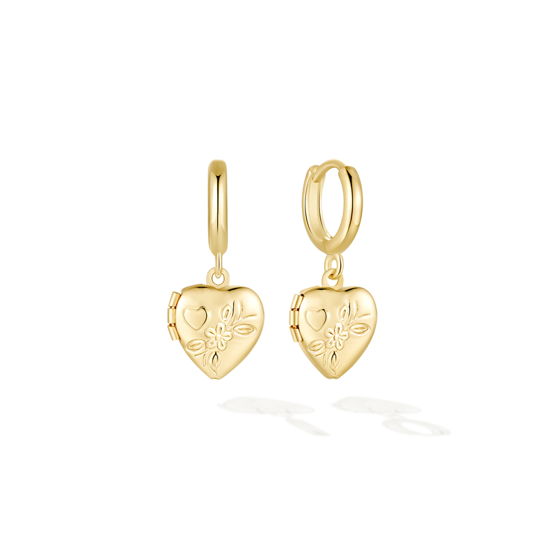 LockHeart Huggies - Yellow Gold
