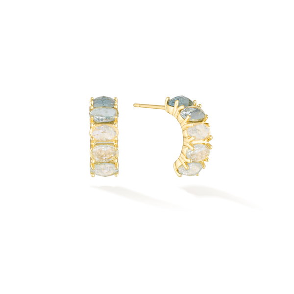 Calm the Sea - March Birthstone Earrings (Aquamarine)