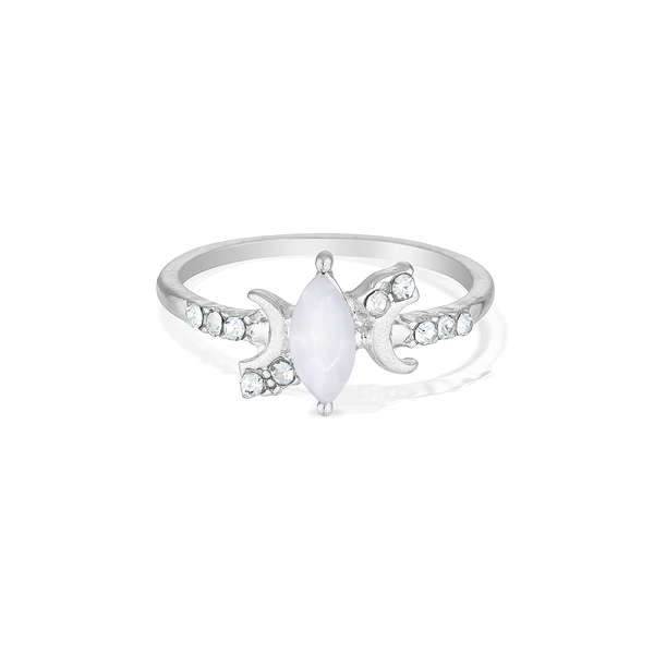Marquise Moonlight Ring - Silver