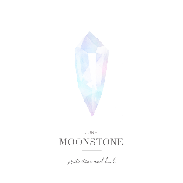 Soul Protection - June Birthstone Earrings (Moonstone)