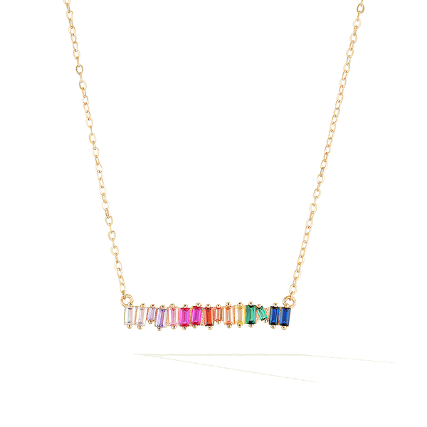 Bifröst Rainbow Pride Necklace - Yellow Gold