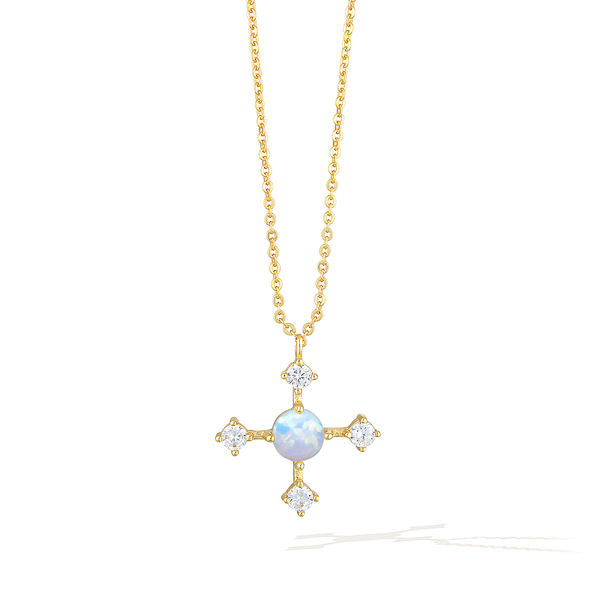 Opulence Crux Necklace - Yellow Gold