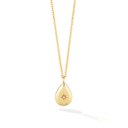 Malibu Teardrop Pépite Necklace - Yellow Gold
