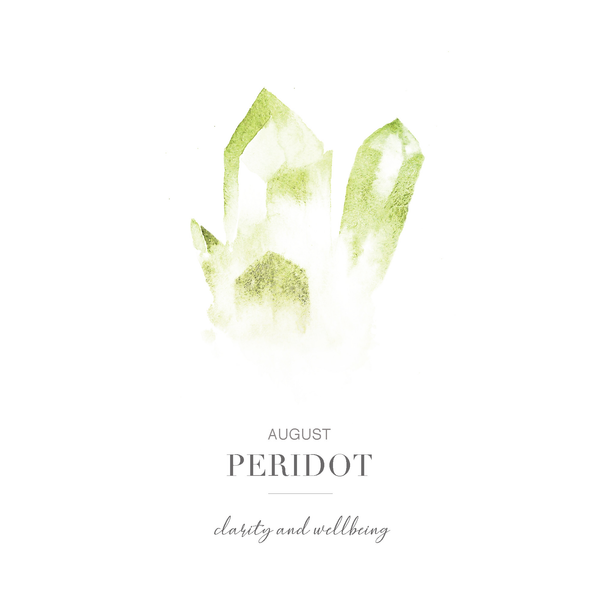 Wellbeing of the Spirit - August Birthstone Earrings (Peridot)