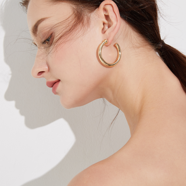 SoHo Chunky Hoops - Yellow Gold