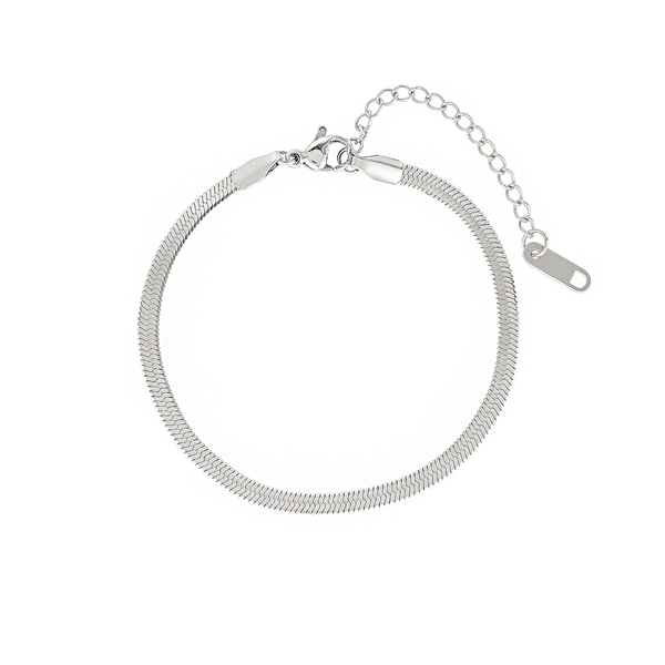 The 5th Avenue Snake Chain Bracelet - Silver