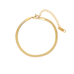 The 5th Avenue Snake Chain Bracelet - Yellow Gold