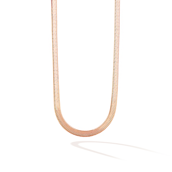 The 5th Avenue Snake Chain Choker - Rose Gold