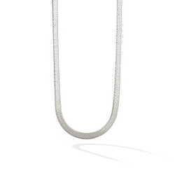 The 5th Avenue Snake Chain Choker - Silver