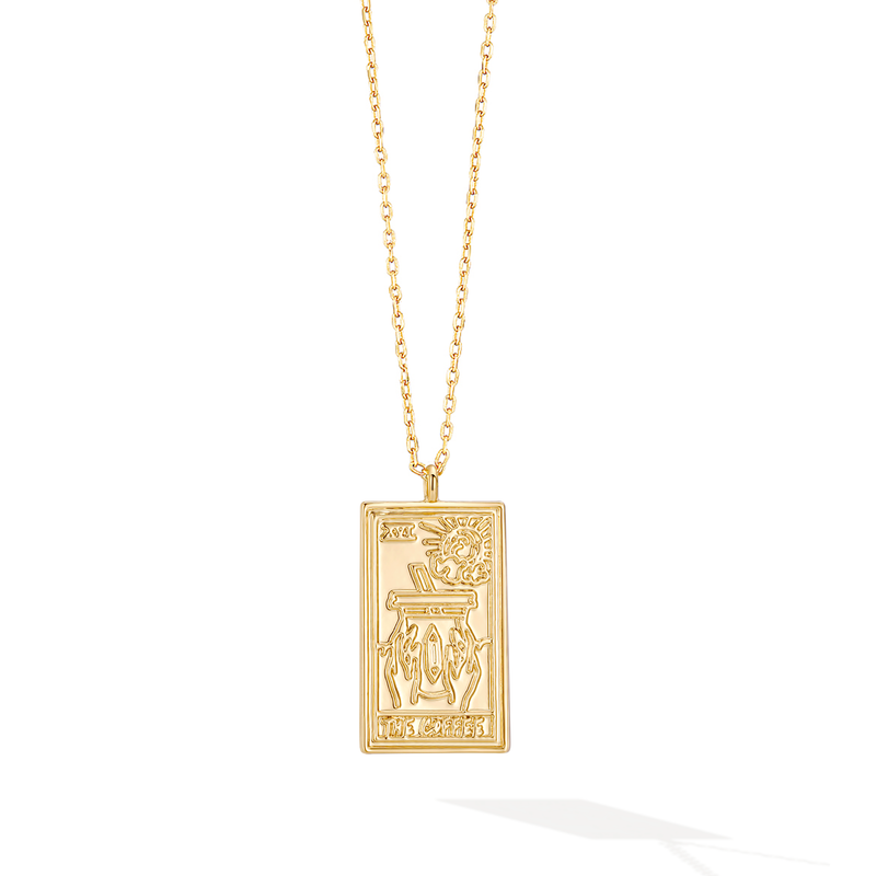 The Coffee Club Tarot Card Necklace