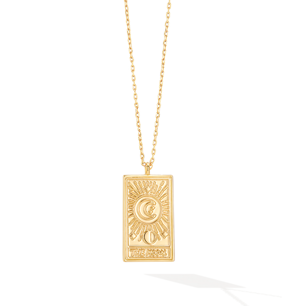 The Moon Shine Tarot Card Necklace