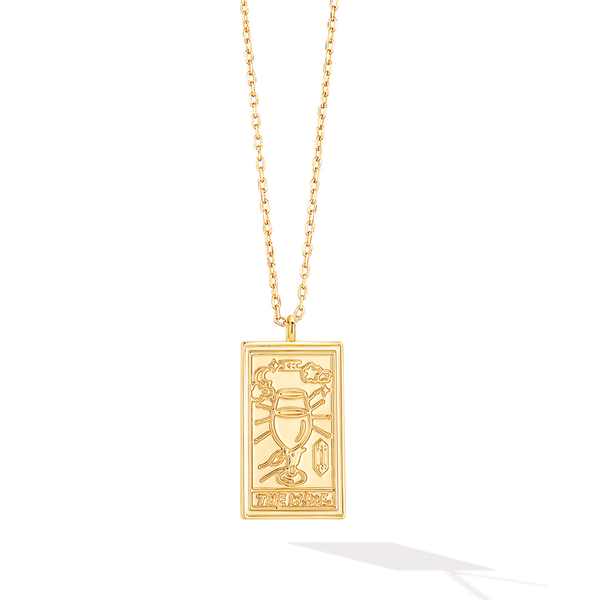 The Fine Wine Tarot Card Necklace