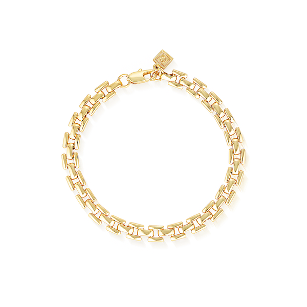 Bel Air Flat Chain Bracelet - Yellow Gold