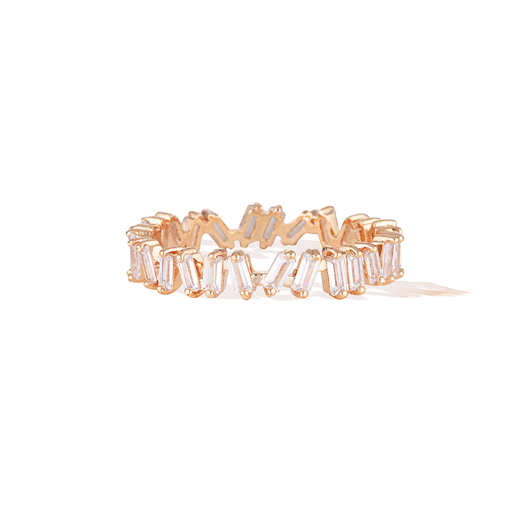 Eternity Baguette Ring - Rose Gold