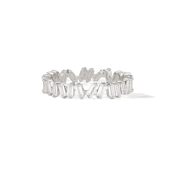 Eternity Baguette Ring - Silver