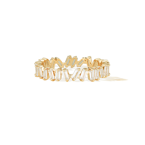 Eternity Baguette Ring - Yellow Gold
