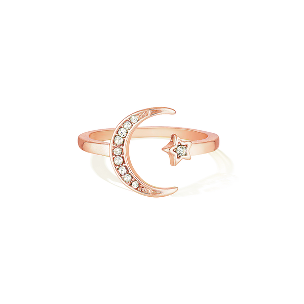 Wish Upon the Sparkling Sky Ring - Rose Gold