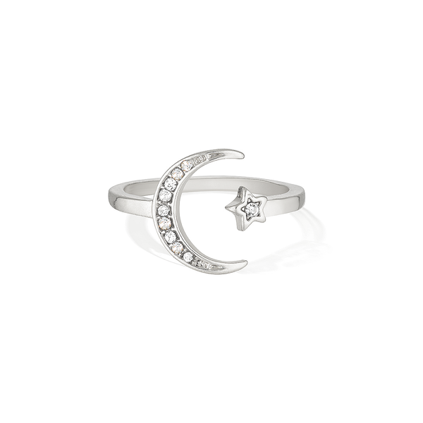 Wish Upon the Sparkling Sky Ring - Silver