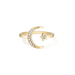Wish Upon the Sparkling Sky Ring - Yellow Gold