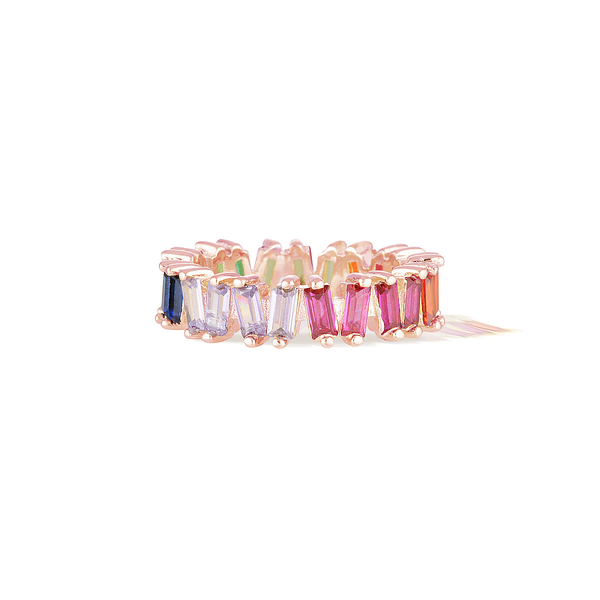 Bifröst Rainbow Eternity Ring - Rose Gold
