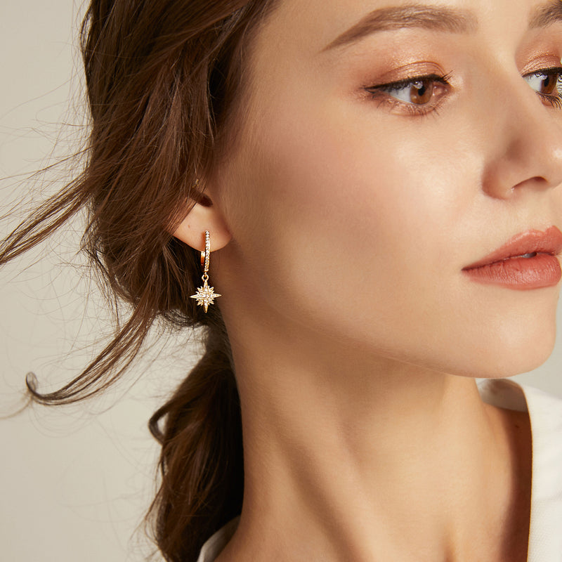 Binary Solaris Hoop Earrings - Rose Gold