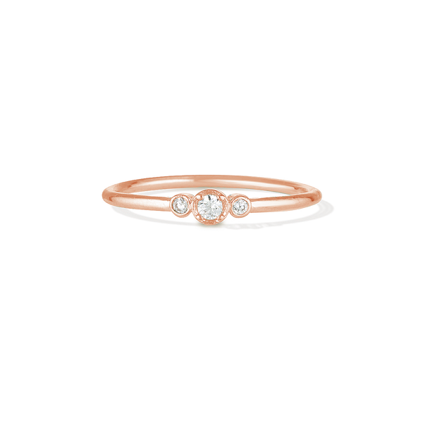 Love. Hope. Faith. Ring - Rose Gold