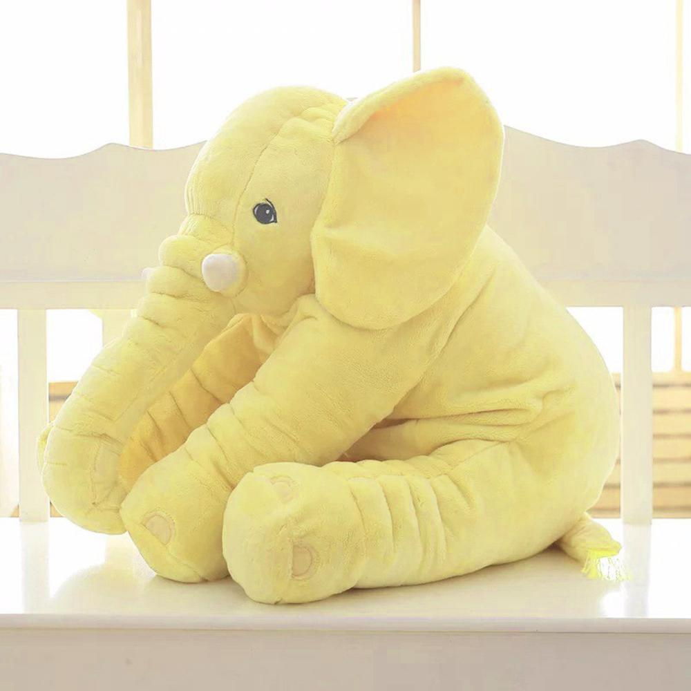 Ultra Soft Elephant Pillow for Babies and Kids - 60cm / Yellow - TrendGadgetsHome