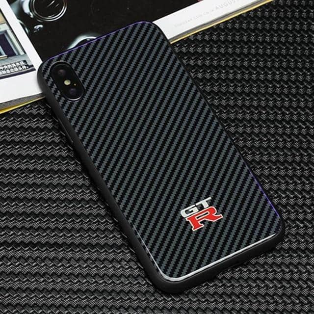 M/AMG/GT-R Tempered Glass Carbon Fiber Case for Iphone - For iphone XS Max / GTR - TrendGadgetsHome