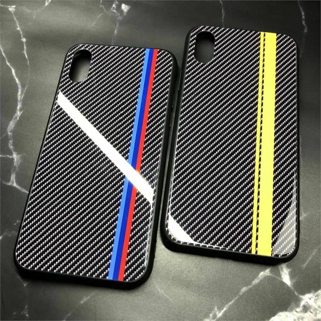 M/AMG Tempered Glass Carbon Fiber Case for Samsung -  - TrendGadgetsHome