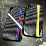 M/AMG/GT-R Tempered Glass Carbon Fiber Case for Iphone -  - TrendGadgetsHome
