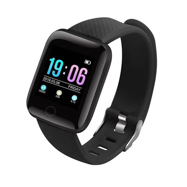 New Generation Smartwatch (Heart Rate, Blood Pressure, Steps and many more) - Black - TrendGadgetsHome