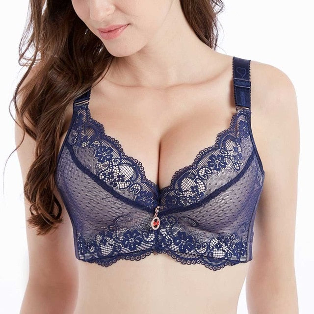 Push Up Padded Bra - Blue / 90d - TrendGadgetsHome