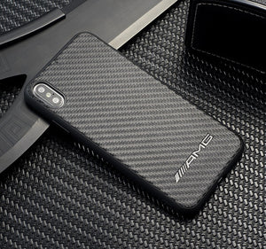 Carbon Fiber Car Logo Case for Iphone - Iphone 7/8 / AMG - TrendGadgetsHome