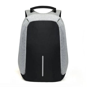 Anti Theft Backpack With USB Charging - Gray - TrendGadgetsHome