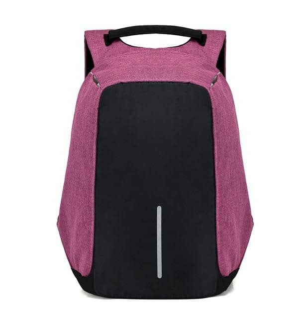 Anti Theft Backpack With USB Charging - Purple - TrendGadgetsHome