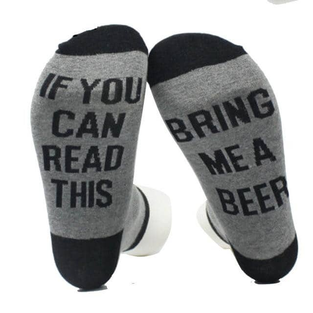 Beer Socks - GRAY - TrendGadgetsHome