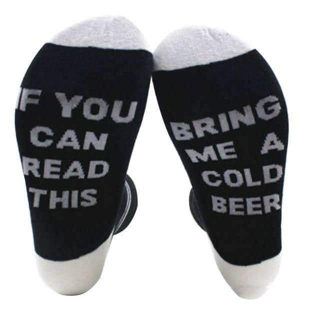 Beer Socks - BLACK GRAY - TrendGadgetsHome