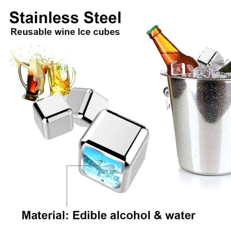 Stainless Steel Cocktail Cubes -  - TrendGadgetsHome