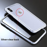 Ultra Slim Magnetic Anti-Shock Case - silver clear / for iPhone 6 6S Plus - TrendGadgetsHome