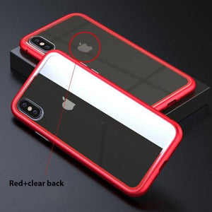 Ultra Slim Magnetic Anti-Shock Case - red clear / for iPhone 6 6S Plus - TrendGadgetsHome