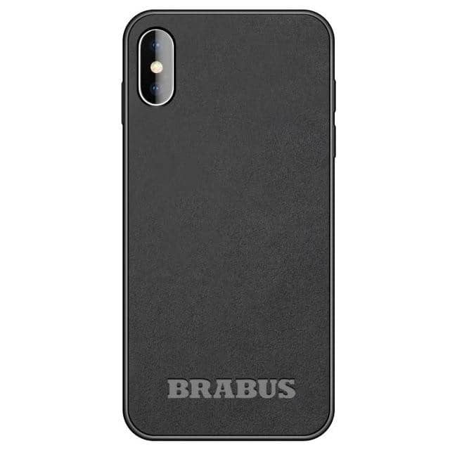 Car Logo Alcantara Case for Iphone X/XR/XS/XS Max - BRABUS / for iphone XS - TrendGadgetsHome