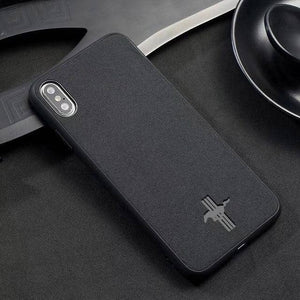 Car Logo Alcantara Case for Iphone X/XR/XS/XS Max - Mustang / for iphone XS - TrendGadgetsHome
