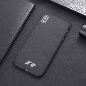 Car Logo Alcantara Case for Iphone X/XR/XS/XS Max - R / for iphone XS - TrendGadgetsHome
