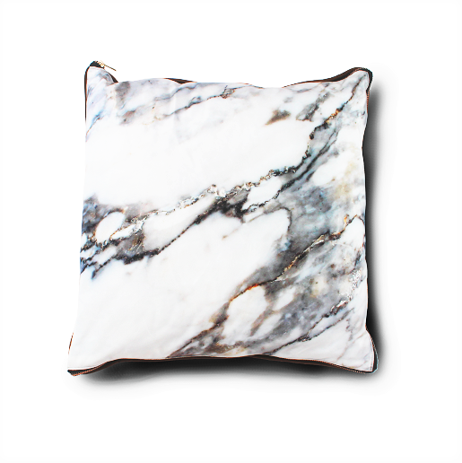 imoha plaid pillow white marble sierkussen bank marmer