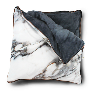 imoha plaid pillow white marble deken