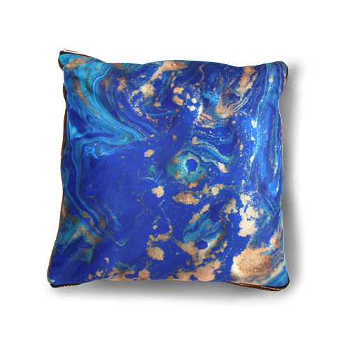 imoha plaid pillow blue marble woonplaid