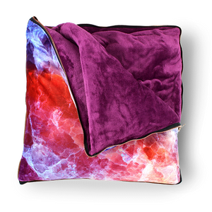imoha plaid pillow coloured marble deken