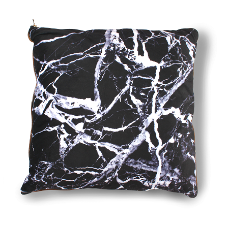 imoha plaid pillow black marble sierkussen bank marmer