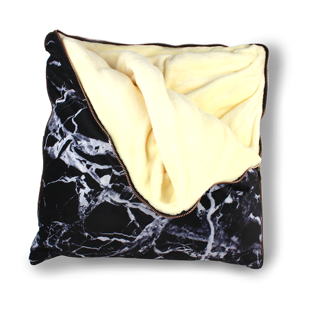 imoha plaid pillow black marble deken
