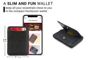 Magic Coin Wallet RFID Hunterson - Black - 2